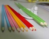 Unique Color Pencil Chopsticks - Pink, Baby Blue, Mossy Green, Orange
