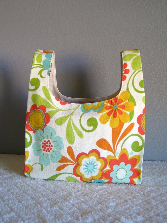 Bright Floral Market Bag - Reusable Shopping Grocery