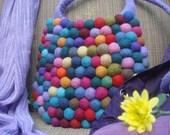 Purple Starp Gumball Felt Bag by YUMMI