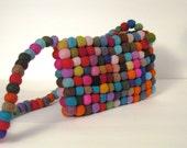 Classic Gumball YUMMI Felt Bag by YUMMI  unique beautiful fun colorful clutch purse blue