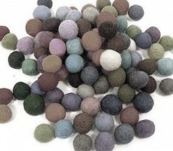 Felt Balls You choose the colors 100 count 20mm Felted balls by YUMMI