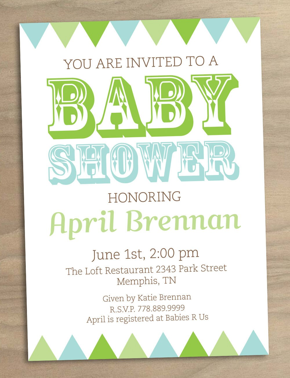baby shower invitation or bridal shower by designandlife on etsy