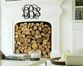 Extra Large Personalized Vinyl Wall Decal Monogram B71