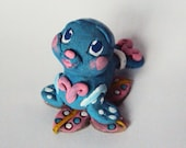 Blue Baby Water Seal Pup -Polymer -Mini Doll