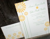 Modern Daisies DIY Wedding Invitation Suite