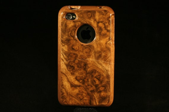 Handcrafted Walnut Burl Wood Case for iPhone 4 and 4S