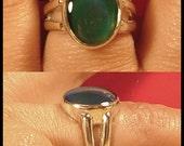 Mood Ring Sterling Silver Medium Oval Splitband Size 6