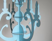 Reserved for pollyjean1975 - Painted Cardboard Chandelier, Pick Your Color, Laser Cut Silhouette by Seequin on Etsy