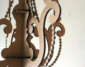 MINI Chandelier Laser Cut Cardboard