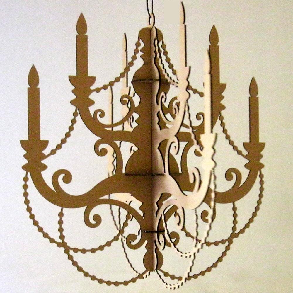Classic chandelier paper chandelier hanging chandelier - Fabriquer un chandelier en carton ...