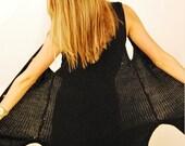 Long Sleeveless Sweater Vest