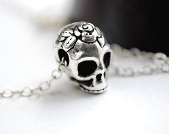 Sugar Skull Necklace Dia De Los Muertos Day of the Dead