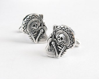Skeleton Cuff Links Dia De Los Muertos Cuff Links