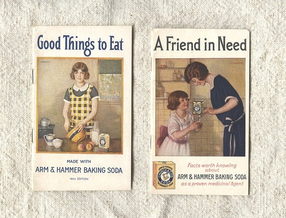 Vintage Cookbooks Recipes and Remedy Booklets 1920s 1930s Cooking Arm & Hammer Baking Soda