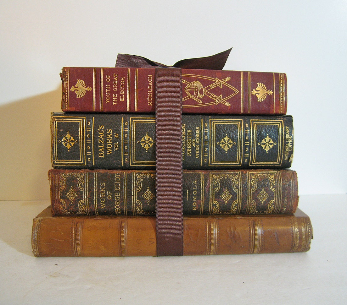 books antique bundle reserved wendy leather century