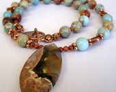 Natural Beauty - Mexican Agate Necklace