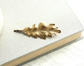 Leaf Hair Accessories, Harvest Gold Leaves, Brass, Nature Hair Accessories, Oak Leaf, Bobby Pin, Hair Clips, Forest, Woodland