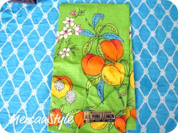 Vintage Linen Fruity Summer Kitchen Towel New