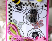 """Earrings/Poem """"Bees Please"""" by Mary branchonthebeadtree"""