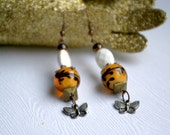 """Earrings/Poem/True Story """"Butterscotch Kisses"""" by Mary branchonthebeadtree"""