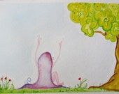 Fairy Tale - 6x9 Watercolor Fairy Girl - Reach