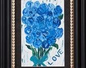 Blue Love (Framed original work)