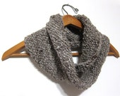 Cowl Knit in Taupe With Undyed Fair Trade Handspun Wool