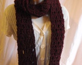 Long Claret Red Scarf