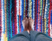 Deposit for Rainbow Rag Rug Made to Order Choose Your Colors
