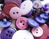 Purple Button Mix 8-30mm 30-45 Buttons