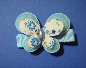 Blue Butterfly Hair Clip - Clippie For Infant Toddler Girl