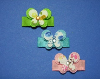 Adorable Baby Butterfly Trio Mini Snap Clip Set For Infant Toddler Girl