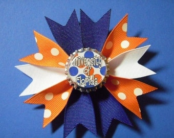 Team Spirit Bowtique Spike Pinwheel Hairbow - UF Florida Gators Inspired