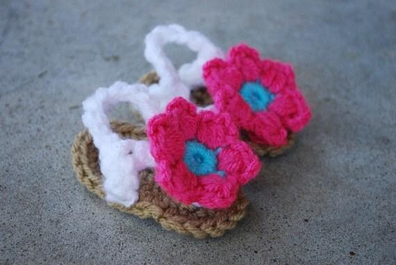 Crochet Baby Flower Sandals