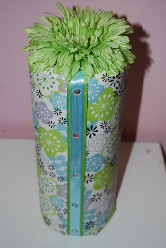 NEW---Headband Holder in Lime Green and Blue