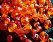Orange Czech Glass Bead Mix