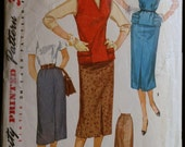 Vintage Sewing Pattern 50s Misses Skirt and Jerkin Simplicity 1262 Sz 14