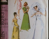 Vintage Sewing Pattern 60s Wedding Gown/Bridesmaid Dress McCalls 8083 Sz 18