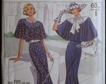 Simplicity 9360 Misses Retro Town Dress Pattern Sz 14  to 20