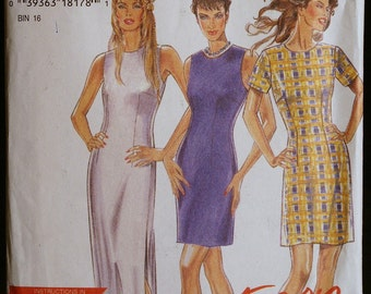 Sewing Pattern New Look 6383  Misses Dress in Two Lengths Pattern Sz 8 to 18