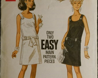 Butterick 5283 Misses Evening Dress with Jewel Trim Vintage 60s Sewing Pattern Sz 8