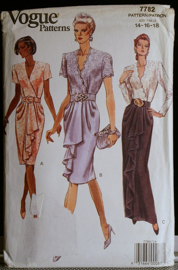 Vintage Sewing Pattern Womens Evening Gown Or Special Occasion