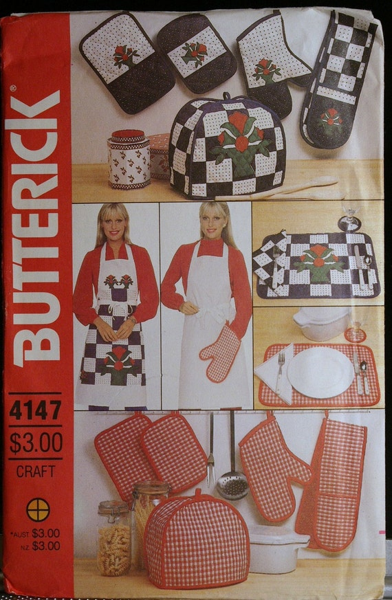 Butterick 4147 Apron & Kitchen Accessories Vintage by olivealley