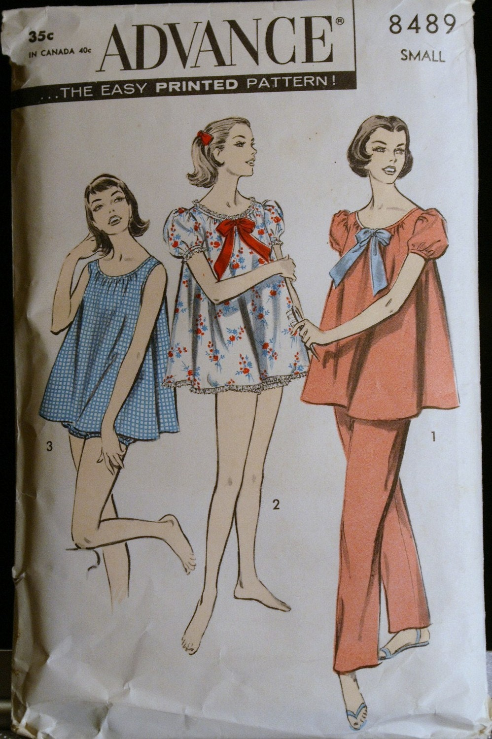 Vintage Sewing Pattern 50s Womens Pajama And Baby Doll Set