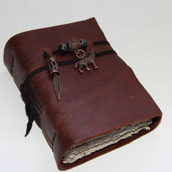 Runs with Wolves - leather journal, diary, notebook