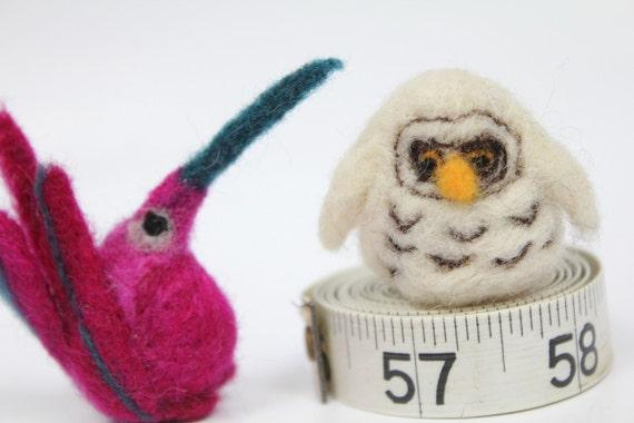 Needle felted small birds