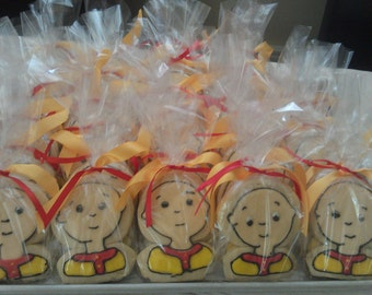 One Dozen caillou cookie favors