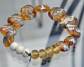 Lampwork Lentils and beads