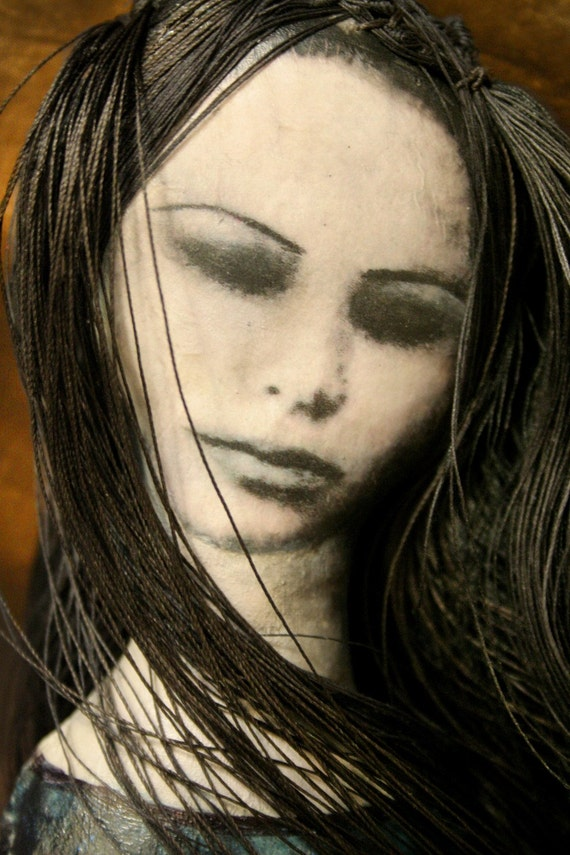 Odessa : Gothic, mixed media photographic art doll