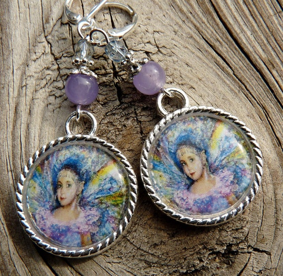 Fairy Tile Earrings Fantasy Earrings Tile Jewelry Fantasy Jewelry Fairy Jewelry